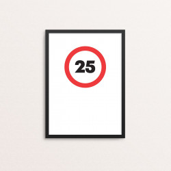 Plakat: '25'