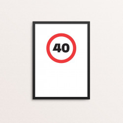 Plakat: '40'