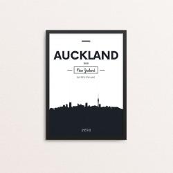 Plakat: Skyline, Auckland