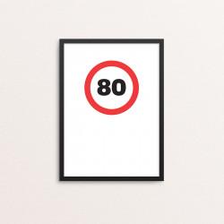 Plakat: '80'