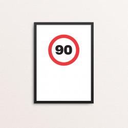 Plakat: '90'