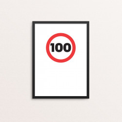 Plakat: '100'