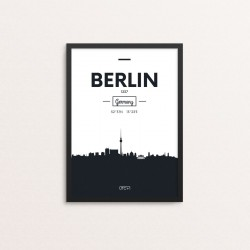 Plakat: Skyline, Berlin