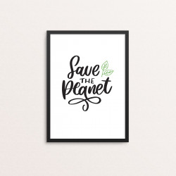 Plakat: 'Save THE Planet'