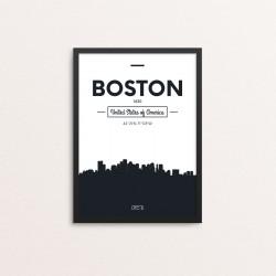 Plakat: Skyline, Boston