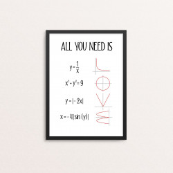 Plakat: 'ALL YOU NEED IS LOVE'