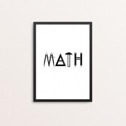 Plakat: 'MATH'