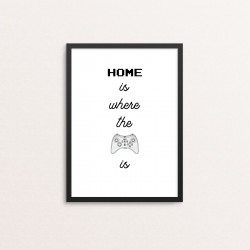 Plakat: 'HOME is where the...