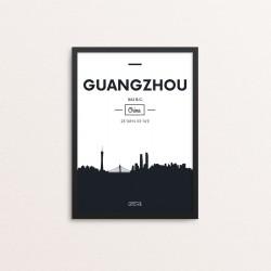 Plakat: Skyline, Guangzhou