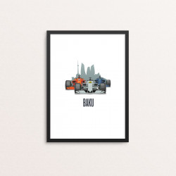 Plakat: Race Cars, 'BAKU'