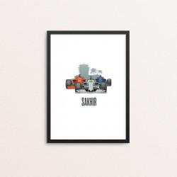 Plakat: Race Cars, 'SAKHIR'