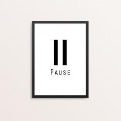 Plakat: 'Pause'