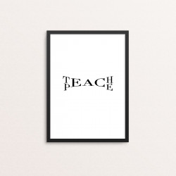 Plakat: 'TEACH PEACE'