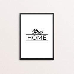 Plakat: 'Stay HOME'