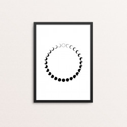 Plakat: Månefaser, cirkel