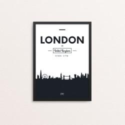 Plakat: Skyline, London