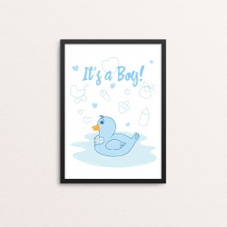 Plakat: 'It's a Boy', and