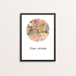 Plakat: 'Stay unique'