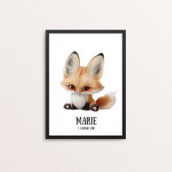 Plakat: Baby ræv,...
