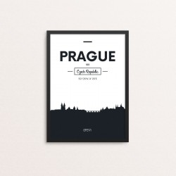 Plakat: Skyline, Prague (Prag)