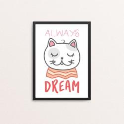 Plakat: 'ALWAYS DREAM', Kawaii