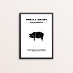Plakat: Svineudskæringer,...
