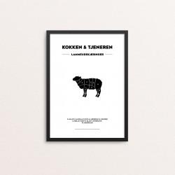 Plakat: Lammeudskæringer,...