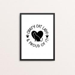Plakat: 'CRAZY CAT LADY &...