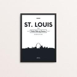Plakat: Skyline, St. Louis