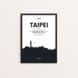 Plakat: Skyline, Taipei