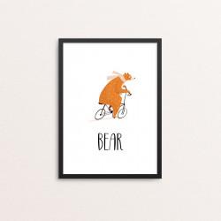 Plakat: Cyklende bjørn,...