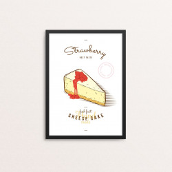 Plakat: 'Strawberry Cheese...