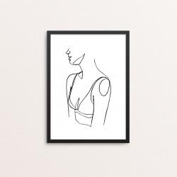 Plakat: Kvinde, abstrakt i...