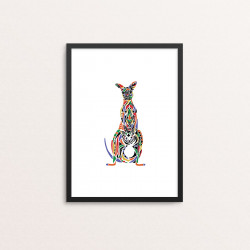 Plakat: Kænguru, multicolor