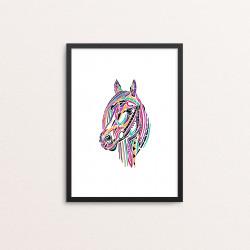 Plakat: Hest, multicolor