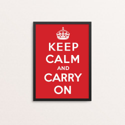 Plakat: 'Keep Calm And...