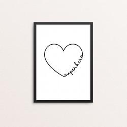 Plakat: 'superhero', hjerte