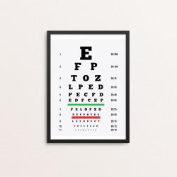 Plakat: Synstavle, bogstaver