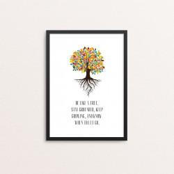 Plakat: 'BE LIKE A TREE'