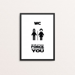 Plakat: 'MAY THE FORCE BE...