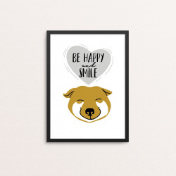 Plakat: 'BE HAPPY and...