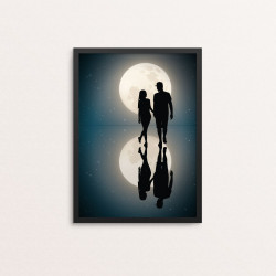 Plakat: Moonlight night, blå