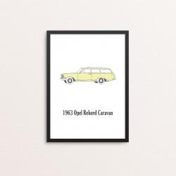 Plakat: Biler, '1963 Opel...