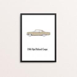 Plakat: Biler, '1966 Opel...
