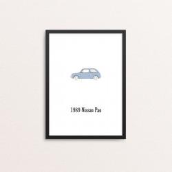 Plakat: Biler, '1989 Nissan...