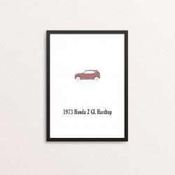 Plakat: Biler, '1973 Honda...