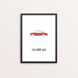 Plakat: Biler, '1975 BMW...