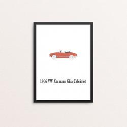 Plakat: Biler, '1966 VW...