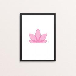 Plakat: Lotus blomst, pink