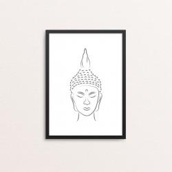 Plakat: Buddha hoved